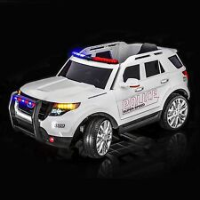 SPORTrax Ford Explorer Style Police Kids Ride on Car, Free MP3 Player W