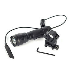 WF-502B 1-Mode 5000Lm XML T6 LED Tactical Flashlight Torch+Rifle Gun Rail Mount