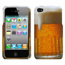 for iPhone 4 4G 4S -Icy Cold Beer Alcoholic Beverage Mug Hard Snap On Case Cover