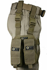 Tan MOLLE Webbing Leg Panel with Rifle and Pistol Mag Kangaroo Pouches