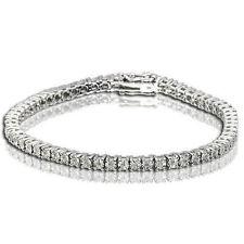 1 Row Women's Tennis Bracelet with Natural Round Diamonds White Gold Finish Tenn