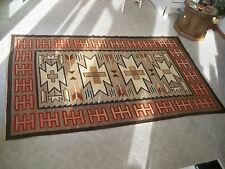 "Vintage Early Native American Indian Navajo Large Teec Nos Pos  Rug 106"" x 64"""