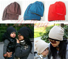 Lovely Boys Girls Baby Toddler Child Parent Cotton Warm Knit Beanie Hat Cap O07