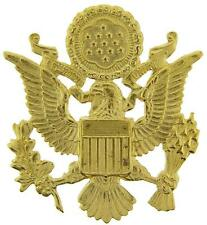 "US Army Officer Cap Eagle Badge Insignia Gold 2-1/2"" Lapel Hat Pin"