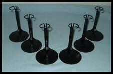 6 Black Action Figure DISPLAY STANDS fit 7 & 8 Inch NECA Play Arts MEGO