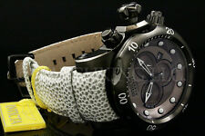 Invicta Reserve Cobra Venom Charcoal Swiss Made Chrono Dial S.S Leather Watch