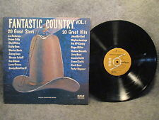 33 RPM LP Record 20 Great Stars 20 Hits Fantastic Country Vol. 1 RCA PRS-387 EXC