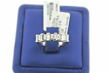 MOVADO 18K WHITE GOLD  2.00 CT DIAMONDS LADIES ANNIVERSARY BAND SIZE 6.5