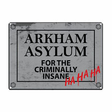 BATMAN ARKHAM ASYLUM A5 STEEL SIGN TIN PICTURE WALL ART RETRO PLAQUE DC COMICS
