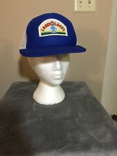 Retro Genuine Land O Lakes White Mesh Foamy Logo Patch Snap Back Hat-One M/L