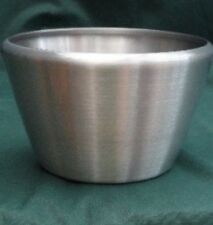 *NEW*PLANT POT QUALITY DESK TOP BOWL LACQUERED ALUMINIUM TAPERED 165x105x115 mm