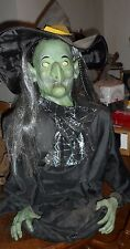 Animated Wicked Witch Prop Life Size By Gemmy Halloween Decoration