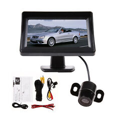 "Car Reversing Rear View Camera Parking Kit + 4.3"" HD LCD TFT Monitor Video Input"