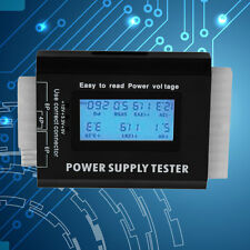 Digital LCD PC Computer PC Power Supply Tester 20/24 Pin SATA HDD Testers#X#