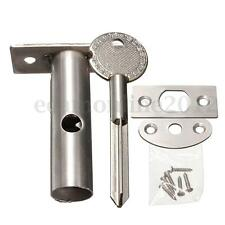 2 Pack Door Security Dead Bolts Rack With Fitting Plates & Star Keys & Screws