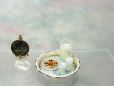Dollhouse Miniature Tray of Handcrafted Milk and Chocolate Chunk Cookies