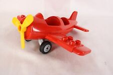 Duplo Lego Red Airplane Low Wing Yellow Propeller 414J9