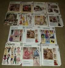 Lot of 14 Sewing Craft Patterns Uncut McCalls all dolls UNCUT vintage OUT PRINT