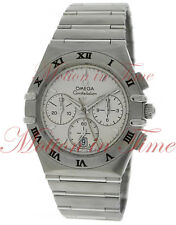 "Omega Constellation Classic ""Hybrid"" Chronograph Silver Motif Dial 39mm 1542.30"