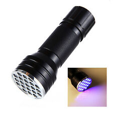 New Black LED Powerful 3 in 1 Torch Flash Light Laser Ultraviolet Outdoor Hiking