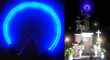 STELLARIO TUBOLARE AUREOLA LED BLU DIAMETRO CM. 30 PER STATUE DA ESTERNO