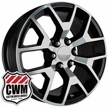 "20 inch OE Performance 169BM GMC Sierra Wheels Black Machined 20x9"" Rims fit GMC"