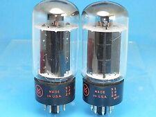 SYLVANIA 6L6 GB VACUUM TUBE MATCH PAIR BLACK PLATE 1961 COPPER TEST NOS VOM S13