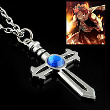 Anime Animation Fairy Tail Cross Pendant Alloy Necklace Charm Chain Cosplay
