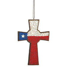 Texas Cross Christmas Ornament
