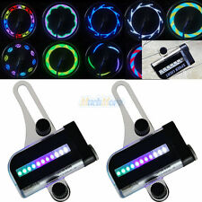 2x 22LED Motorcycle Cycling Bicycle Bike Wheel Signal Tire Spoke Light 30 Change