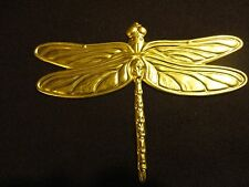 Solid brass large dragonfly garden/indoor decoration 15cm widex11cm long (6x4'')