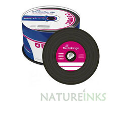 50 MEDIARANGE NERO inferiore VINILE CD-R vuoto DISCHI CD R 52X 700 MB 80Mins Cakebox