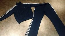 Adidas Men's Track Suit XL Extra Large Navy Blue Jacket Pants
