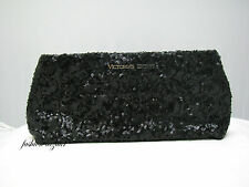 Victoria's Secret LIMITED EDITION BLACK SEQUIN CLUTCH - PURSE    NEW WITH TAG