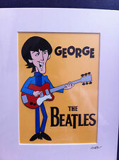 The Beatles - George Harrison - Hand Drawn & Hand Painted Cel