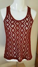 Women's rust coloured netted vest size XS Banana Republic NEW WITH TAGS