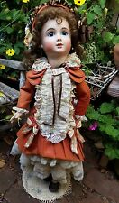 "ANTIQUE repro doll Thuillier A 14 T bebe 26"" french bisque compo artist"