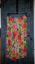 Women's Plus KLOZZ Boho Hippie Maxi Skirt Full Flare Floral Print size 3X