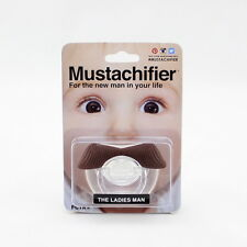 PACIFIER ORIGINAL DESIGN WHISKERS BROWN PIPO MOUSTACHE PACIFIER LIPS MANNEQUIN