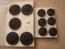 Original WW1 US Army Uniform Buttons 5 Lg. 6 Sm. MINT NOS