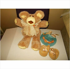 CABBAGE PATCH FURSKIN LARGE BEAR, HANDSIGNED HATTIE LOOK AT PICS