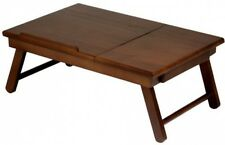 Food Bed Tray Table Meals Lap Desk TV Laptop Tablet Computer Work Drawer Wood