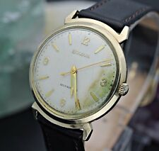 Circa 1962 BULOVA 11AFAC Automatic 10K R.G.P Linen Dial Men's Dress Watch