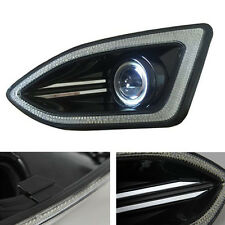 For Ford Edge 15 Auto Front Bumper Angel Eyes +DRL Fog/Driving Lights Cover New