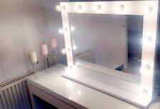 HERA VANITY - Hollywood Vanity Mirror With Lights (Gloss White) - 690cm x 860cm