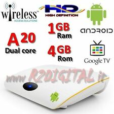 MEDIA PLAYER ANDROID BOX OEM A20 FULL HD MEDIA PLAYER WIFI LAN TV SMART LETTORE