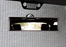 Jeep Wrangler TJ JK JKU Rearview Mirror by Axia Offroad - BLACK ANODIZED