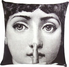 NEW AUTHENTIC Fornasetti - Silenzio Pillow Eyes Closed Sleep Lina
