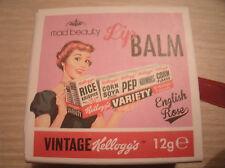 Mad Beauty Vintage Kellogg's English Rose lip balm gloss perfect gift.