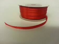 3mm Wide Double Sided Satin Ribbon 3m 5m 50m - FREE 1ST CLASS POSTAGE!